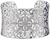 Silver Vintage-Inspired Cuff Bracelet with Diamond Accents by Ax Jewelry