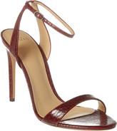 Alexandre Birman Willow 110 Snake-Embossed Leather Sandal