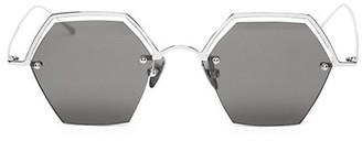 Smoke X Mirrors The Line 47MM Hexagonal Sunglasses