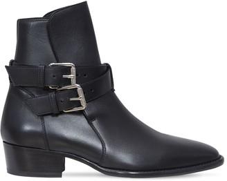 Amiri Leather Buckle Boots