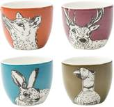 Kaleidoscope Into the Wild' Set of 4 Egg Cups
