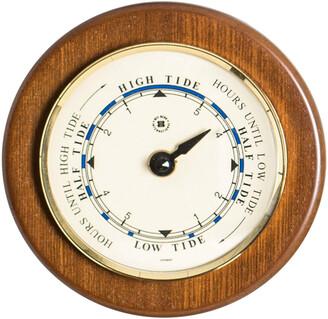 "Bey-Berk Tide Clock On 5"" Cherry Wood"