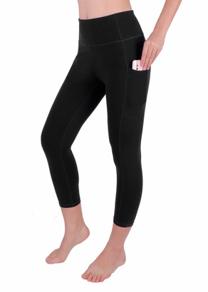 GRAT.UNIC High Waist Out Pocket Yoga Pants Tummy Control 3/4 Shapewear Leggings Non See-Through Fabric Running 4 Way Stretch