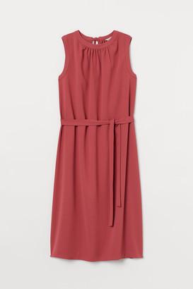 H&M Tie-detail Dress - Red