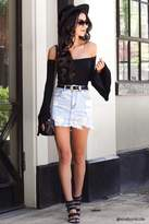 Forever 21 Frayed Hem Denim Mini Skirt