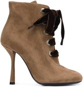 Lanvin lace-up ankle boots - women - Goat Suede - 37