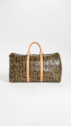 What Goes Around Comes Around Louis Vuitton Green Sprouse Keepall 50