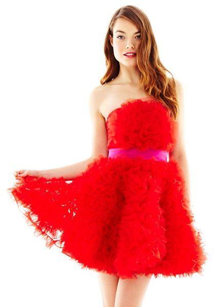 Georgina Chapman PEARL BY OF MARCHESA Pearl of Marchesa Organza Rosette Dress