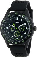 Timex Men's Retrograde T2P044 Rubber Analog Quartz Watch with Dial