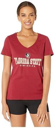 Champion College Florida State Seminoles University V-Neck Tee (Garnet 2) Women's T Shirt