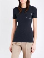 Brunello Cucinelli Patch-pocket jersey t-shirt