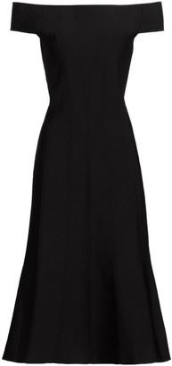 Carolina Herrera Ottoman Corset Knit Midi Dress
