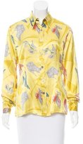 Salvatore Ferragamo Silk Shoe Print Top