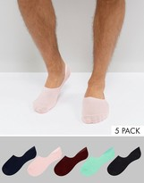 Asos Invisible Socks 5 Pack