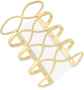 Vince Camuto Gold-Tone Crisscross Long Cuff Bracelet
