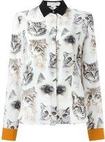 Stella McCartney 'Wilson' cat print shirt - women - Silk - 40