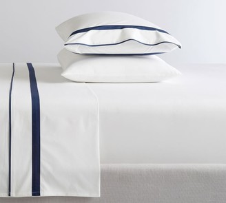 Pottery Barn Morgan Banded 400-Thread-Count Organic Percale Sheet Set