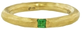 Cathy Waterman Hammered Gold Band with Emerald