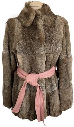 Moschino Cheap & Chic Moschino Cheap And Chic Brown Rabbit Coat for Women