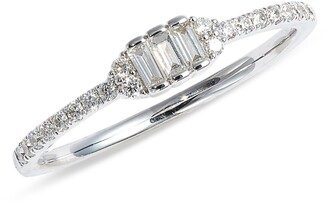 Bony Levy Gatsby Three-Stone Diamond Ring