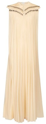 Chloé Beaded Silk Georgette Gown - Womens - Beige Multi