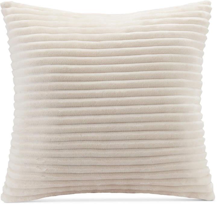 """Parker Premier Comfort Reversible Corduroy Plush 20"""" Square Decorative Pillow"""