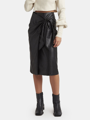 Choosy Aurora Vegan Leather Midi Skirt