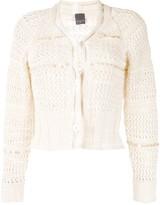 Lorena Antoniazzi sequin-embellished cropped cardigan
