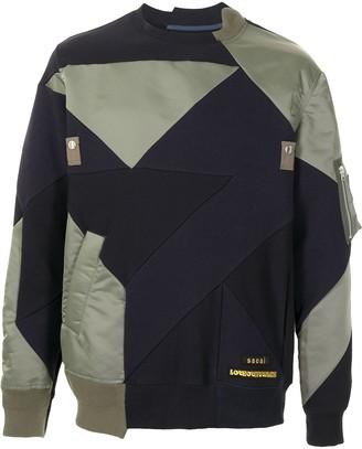 Sacai Geometric Colour-Block Sweatshirt