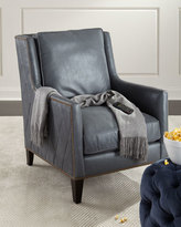 Bernhardt Beatrix Diamond-Tufted Leather Chair