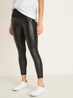 Old Navy High-Rise 7/8-Length Zip-Pocket Street Leggings for Women