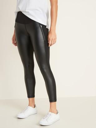 Old Navy High-Rise 7/8-Length Zip-Pocket Street Leggings for Women