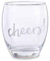 Kate Aspen Set of 4) Silver Cheers 12 oz Stemless Wine Glass
