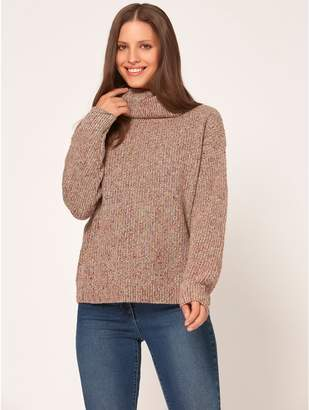 M&Co Cowl neck ribbed jumper