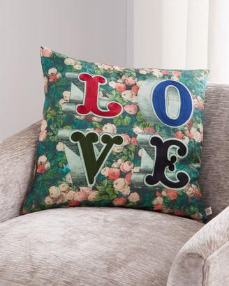 John Derian LOVE Forest Pillow