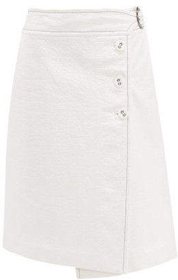 Marni Coated-tweed Wrap Skirt - Womens - White