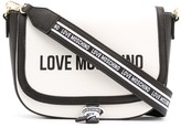 Love Moschino logo print colour block satchel bag