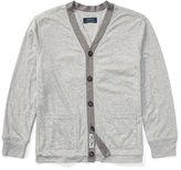 Ralph Lauren 8-20 Cotton-Blend-Jersey Cardigan