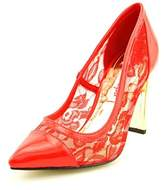 Two Lips Angie Women Round Toe Synthetic Red Heels.