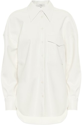 Tibi Utility faux-leather shirt