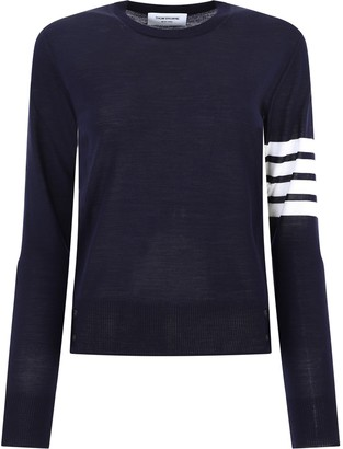 Thom Browne 4-Bar Crewneck Sweater
