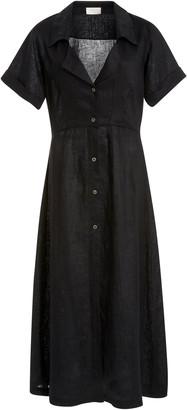 Posse Elia Linen Midi Shirt Dress