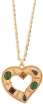 Dolce & Gabbana Crystal-embellished heart-pendant necklace