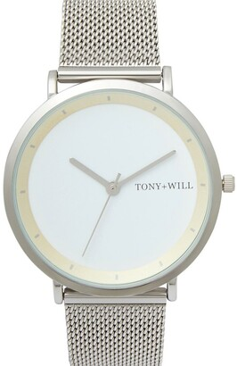 TONY+WILL Lunar Mesh Silver/White TWM005E Watch