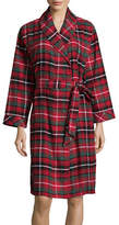 Lord & Taylor Plaid Flannel Robe