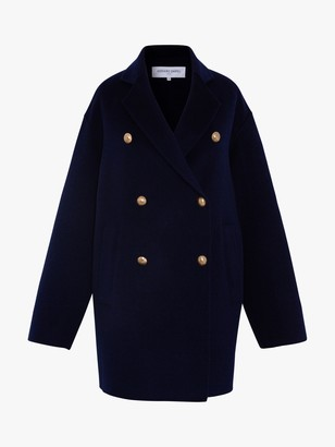 Gerard Darel Regina Wool Coat, Navy