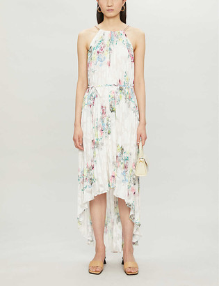 Ted Baker Floral-print pleated crepe midi dress