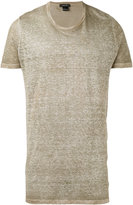 Avant Toi blurry effect T-shirt - men - Linen/Flax - M
