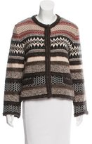 Philosophy di Alberta Ferretti Long Sleeve Wool Cardigan