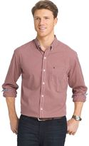Izod Big & Tall Classic-Fit Gingham-Checked Stretch Button-Down Shirt